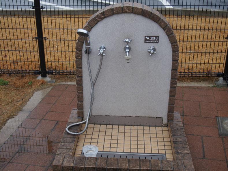 京丹波PA ペット用足洗い場