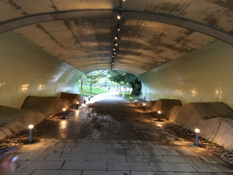 足柄SA下り 綺麗なトンネル